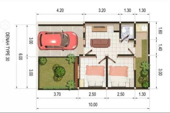 desain rumah tipe 36 minimalis