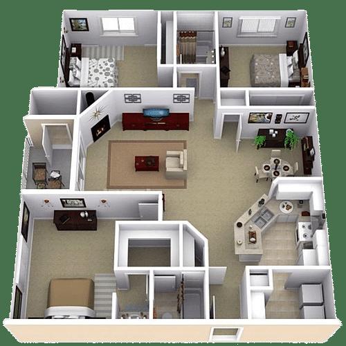 model 3d design rumah