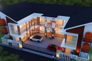 Denah Kos-kosan 2 Lantai Modern dan Minimalis