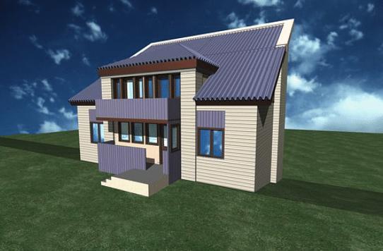 Desain Rumah 3D 2 Lantai