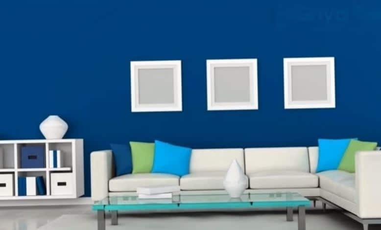 perpaduan warna biru dan putih