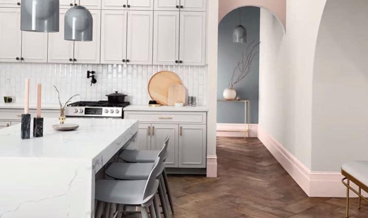 pilihan cat warna untuk bagian dapur