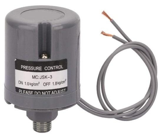 cek kebocoran air pada pompa pressure switch